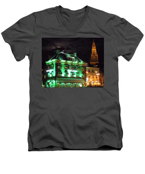 Grasshopper Bar Men's V-Neck T-Shirt by Adam Romanowicz