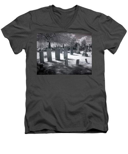 Graveyard Men's V-Neck T-Shirt by Terry Reynoldson