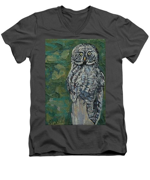Great Gray Men's V-Neck T-Shirt