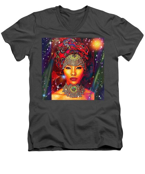 Great Lady Malkia Men's V-Neck T-Shirt
