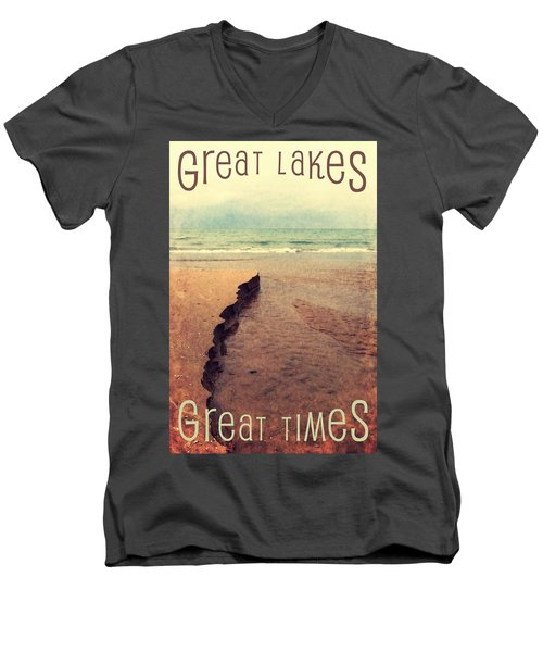 Great Lakes Great Times Men's V-Neck T-Shirt