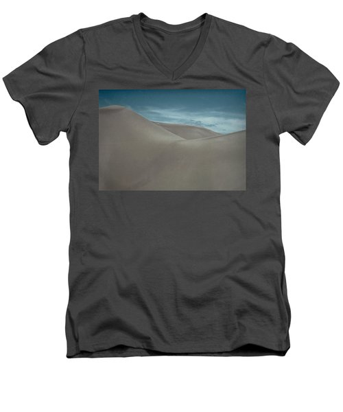 Men's V-Neck T-Shirt featuring the photograph Great Sand Dunes by Don Schwartz