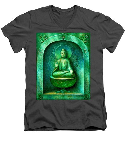 Green Buddha Men's V-Neck T-Shirt