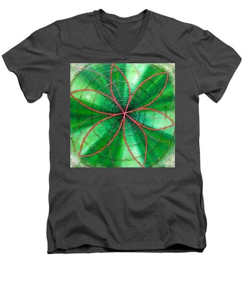 Green Chakra Men's V-Neck T-Shirt