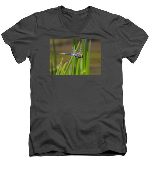 Green Darner Flight Men's V-Neck T-Shirt