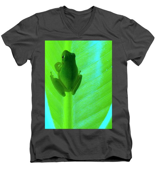 Men's V-Neck T-Shirt featuring the photograph Green Day by Faith Williams