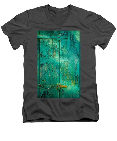 Green Door - Carmel By The Sea Men's V-Neck T-Shirt