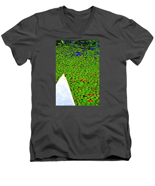 Men's V-Neck T-Shirt featuring the photograph Green Dream by Zafer Gurel