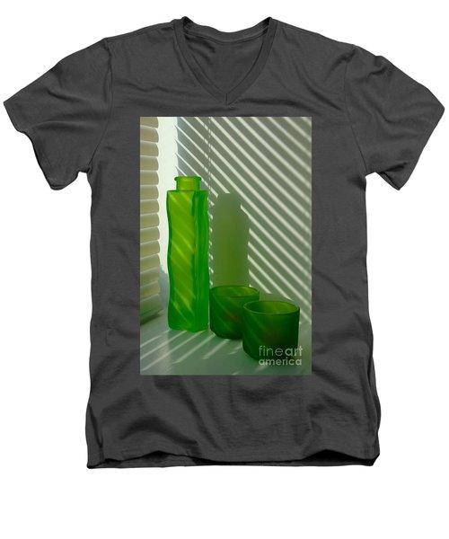 Green Green Glass Men's V-Neck T-Shirt