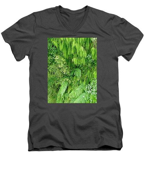 Green Green Men's V-Neck T-Shirt