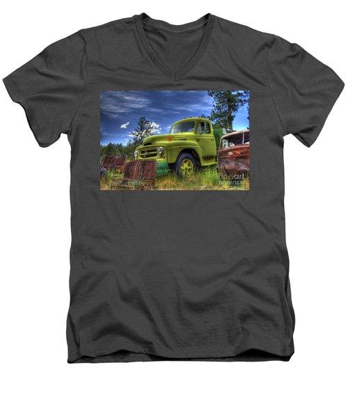 Green International Men's V-Neck T-Shirt