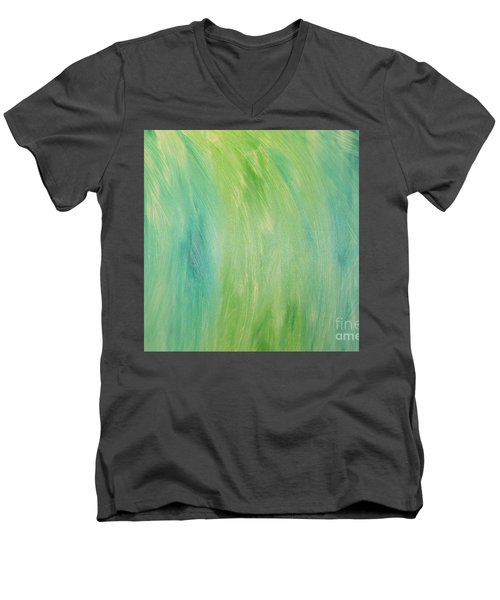 Green Shades Men's V-Neck T-Shirt by Barbara Yearty