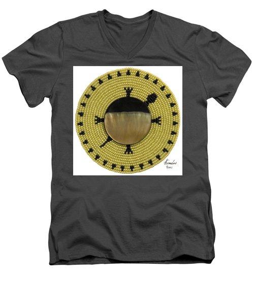 Green Shell Men's V-Neck T-Shirt