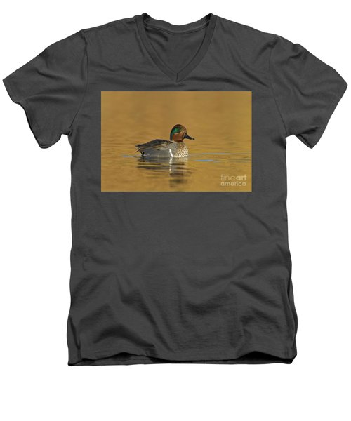 Green Wing Teal Men's V-Neck T-Shirt by Bryan Keil