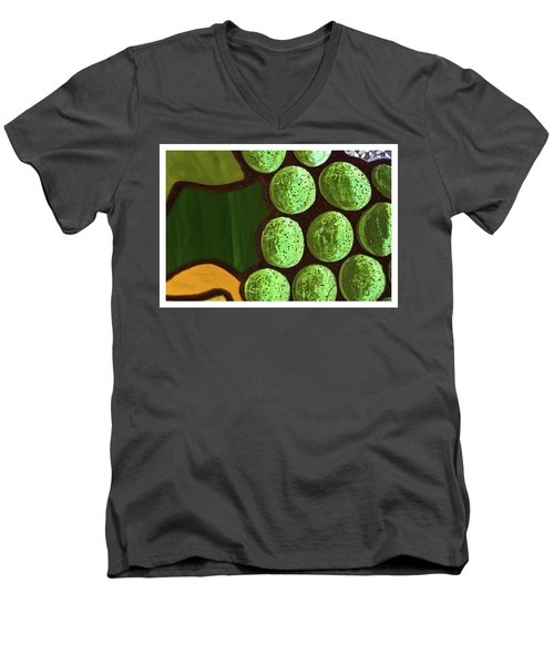 Green Yellow Men's V-Neck T-Shirt
