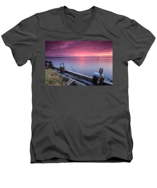 Greenbury Point Sunrise Men's V-Neck T-Shirt