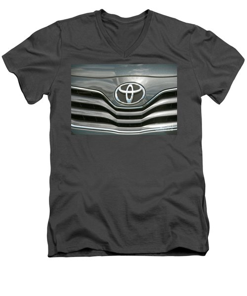 Grey Toyota Grill And Emblem Smile Men's V-Neck T-Shirt