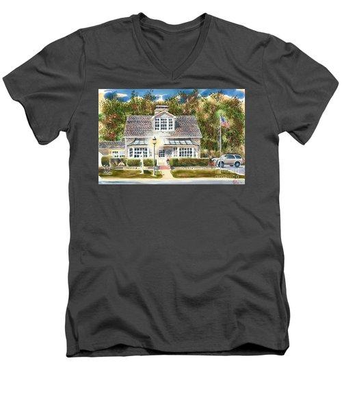 Greystone Inn II Men's V-Neck T-Shirt by Kip DeVore
