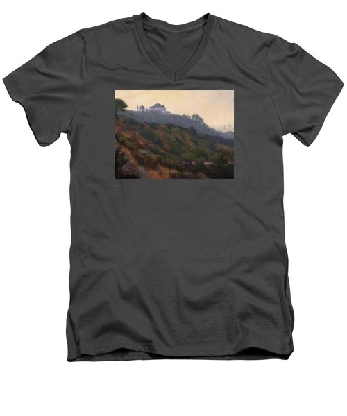 Griffith Park Observatory- Late Morning Men's V-Neck T-Shirt by Jane Thorpe