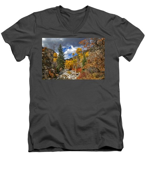 Grizzly Creek Cottonwoods Men's V-Neck T-Shirt