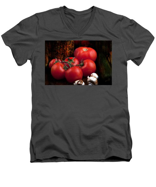 Group Of Vegetables Men's V-Neck T-Shirt