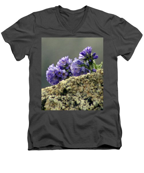 Men's V-Neck T-Shirt featuring the photograph Growing In Granite by Jeremy Rhoades