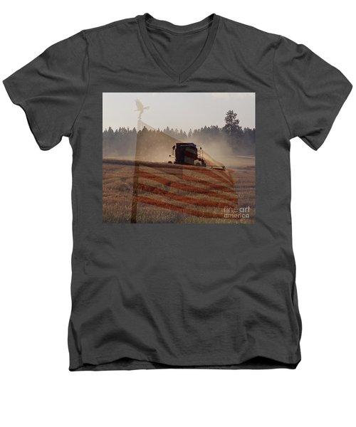 Grown In America Men's V-Neck T-Shirt