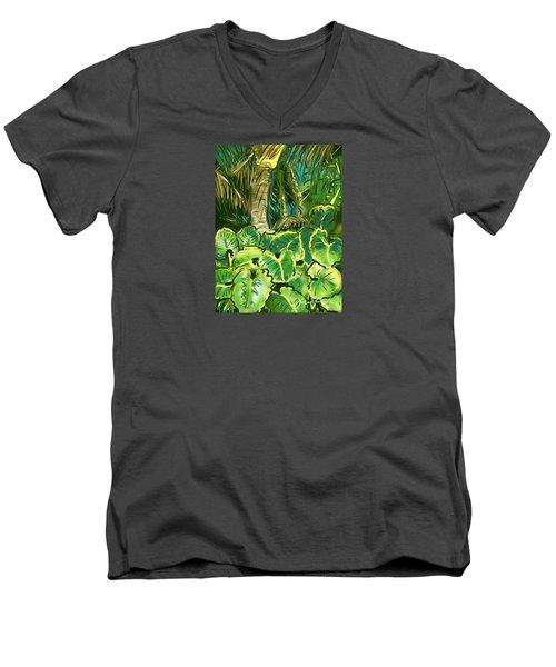 Guanabana Tropical Men's V-Neck T-Shirt by Jean Pacheco Ravinski