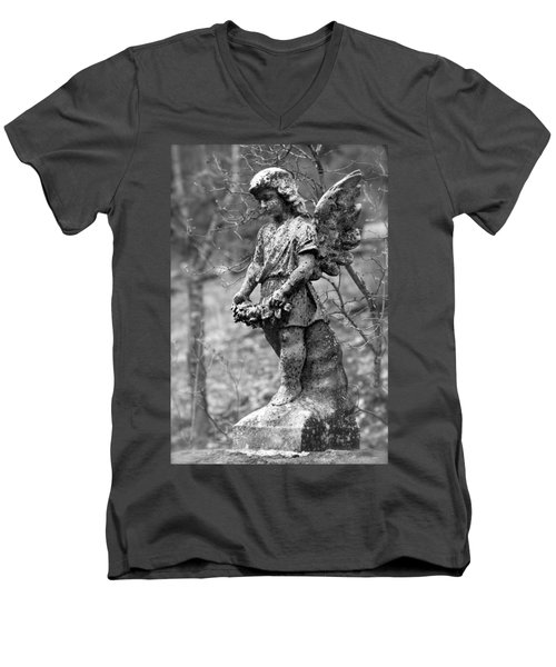 Guardian Angel  Men's V-Neck T-Shirt by Karon Melillo DeVega