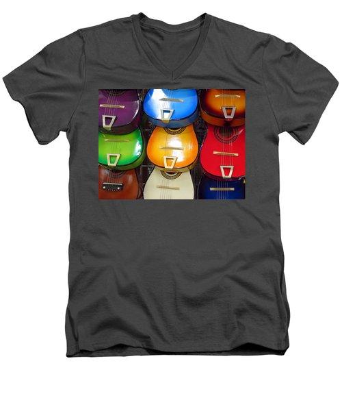 Guitaras San Antonio  Men's V-Neck T-Shirt