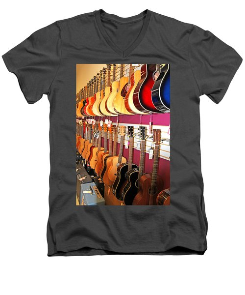 Guitars For Sale Men's V-Neck T-Shirt