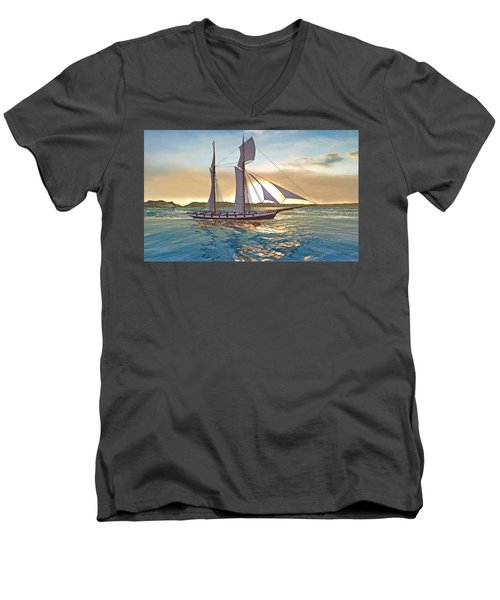 Gulf Of Mexico Area In The World Playground Scenery Project  Men's V-Neck T-Shirt