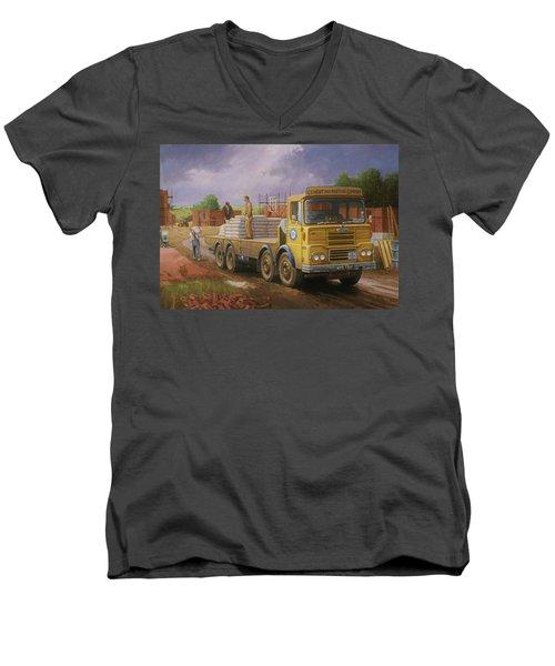 Guy Big J Eightwheeler. Men's V-Neck T-Shirt