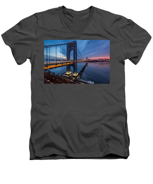 Gwb Sunrise Men's V-Neck T-Shirt
