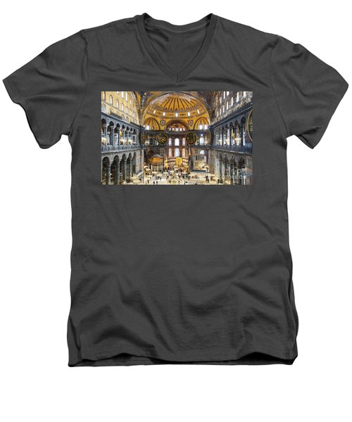 Hagia Sofia Interior 35 Men's V-Neck T-Shirt
