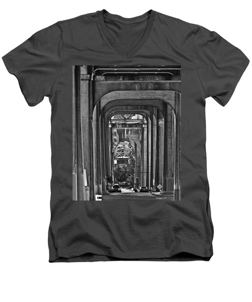 Hall Of Giants - Beneath The Aurora Bridge Men's V-Neck T-Shirt