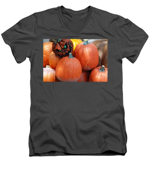 Halloween Goblin Men's V-Neck T-Shirt by Aimee L Maher Photography and Art Visit ALMGallerydotcom