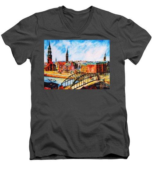 Hamburg - The Beauty At The River Men's V-Neck T-Shirt