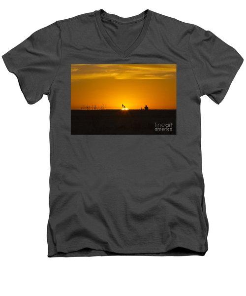Hammering The Sun Men's V-Neck T-Shirt by Alycia Christine