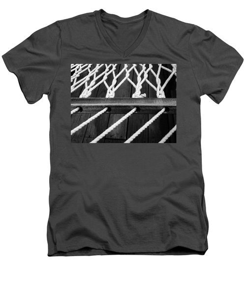Men's V-Neck T-Shirt featuring the photograph Hammock by Julia Wilcox