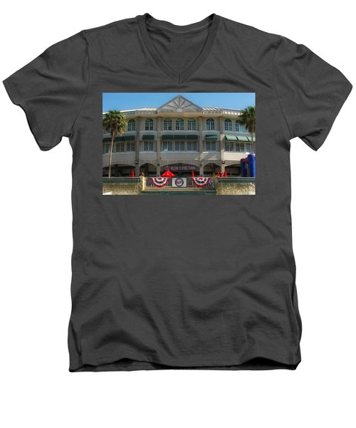 Hammond Stadium Men's V-Neck T-Shirt by Tom Gort