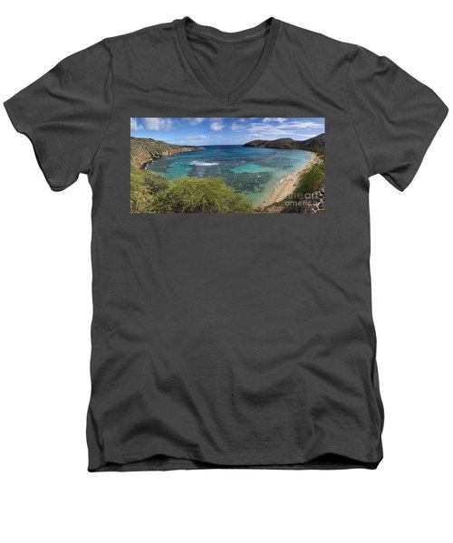 Hanauma Bay Panorama Men's V-Neck T-Shirt