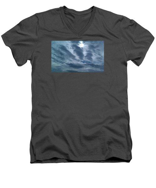 Hand Of God Men's V-Neck T-Shirt by Deborah Lacoste