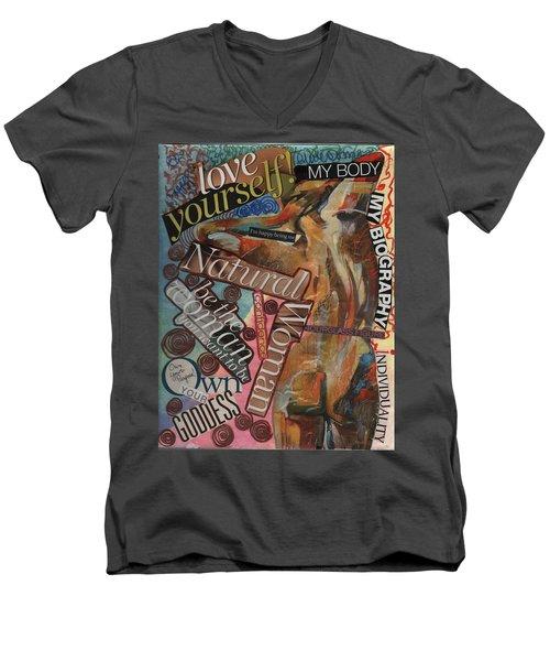 Happy Being Me Men's V-Neck T-Shirt
