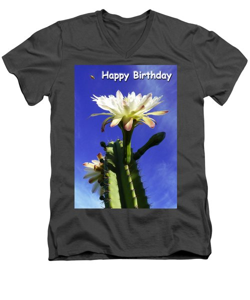 Men's V-Neck T-Shirt featuring the photograph Happy Birthday Card And Print 11 by Mariusz Kula