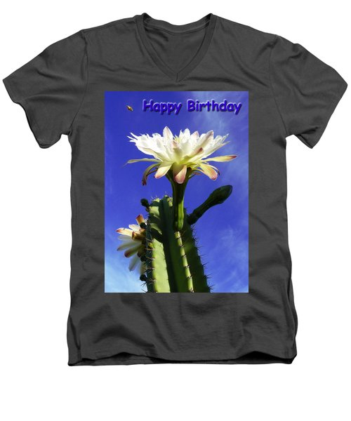 Men's V-Neck T-Shirt featuring the photograph Happy Birthday Card And Print 12 by Mariusz Kula