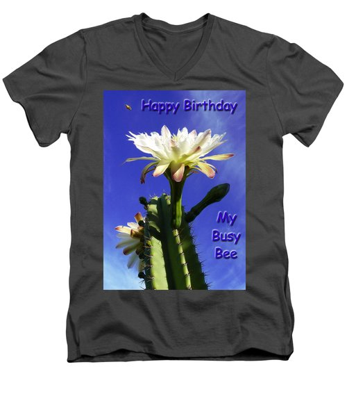 Men's V-Neck T-Shirt featuring the photograph Happy Birthday Card And Print 13 by Mariusz Kula