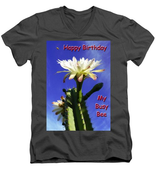 Men's V-Neck T-Shirt featuring the photograph Happy Birthday Card And Print 15 by Mariusz Kula