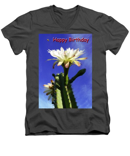 Men's V-Neck T-Shirt featuring the photograph Happy Birthday Card And Print 16 by Mariusz Kula