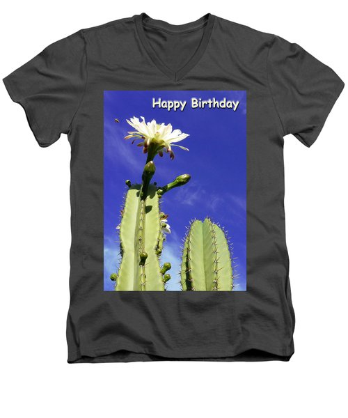 Happy Birthday Card And Print 17 Men's V-Neck T-Shirt